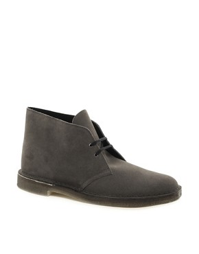 Image 1 ofClarks Originals Suede Desert Boots