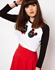 Lazy Oaf Mr And Mrs Crop Top