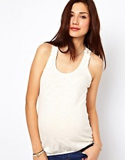 New Look Maternity Crochet Racer Back Tank