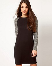 Whistles Contrast Sleeve Jersey Dress