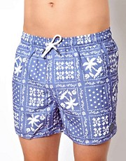 Shorts de bao con bandana de palmeras de Native Youth