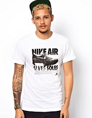 Nike T-Shirt With Nike Air Saves Soles Print