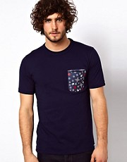 G Star Marc Newson T-Shirt Contrast Print Pocket