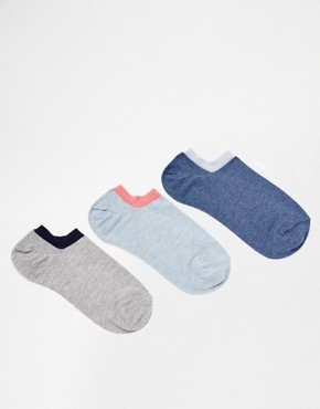 ASOS 3 Pack Marl Trainer Socks