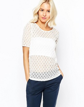 Selected Maly Lace T-Shirt