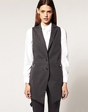 ASOS Premium Long Line Sleeveless Blazer