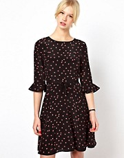 Boutique by Jaeger Silk Skater Dress in Ladybird Print
