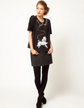 Image 4 ofLulu and Co Studio Jersey Poodle Tee