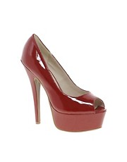 Zigi Soho Patent Peep Toe Heeled Shoe