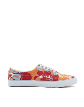 Image 4 ofASOS Plimsolls With Floral Print