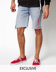 Reclaimed Vintage Shorts with American Flag Seams