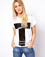 ASOS T-Shirt with Plastisol Letter T