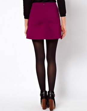 Image 2 ofASOS Mini Skirt With PU Pockets