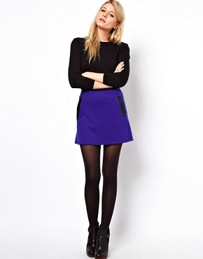 Image 1 ofASOS Mini Skirt With PU Pockets