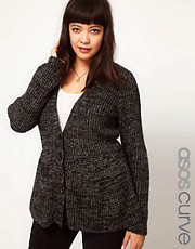 ASOS CURVE Cardigan With Peplum