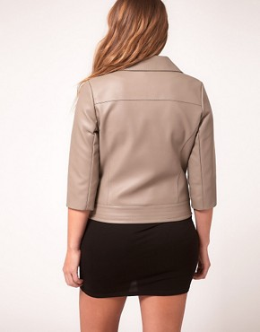 Image 2 ofASOS Curve Exclusive PU Biker Jacket