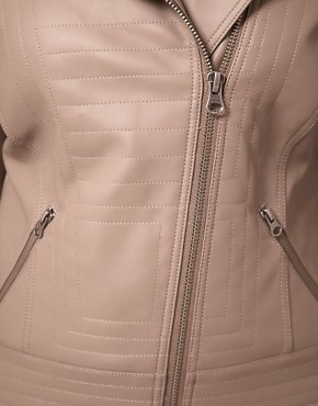 Image 3 ofASOS Curve Exclusive PU Biker Jacket