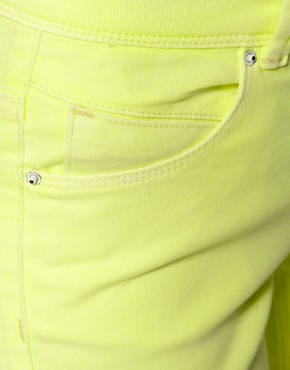 Image 3 ofASOS Skinny Jeans in Neon Yellow #4