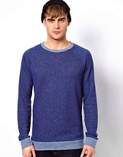 River Island Textured Raglan Sweat
