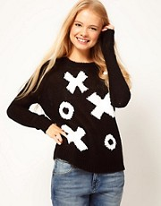 ASOS Jumper With Noughts And Crosses