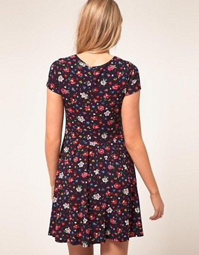 Image 2 ofASOS Maternity Skater Dress In Ditsy Print