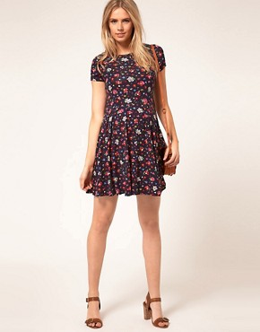 Image 4 ofASOS Maternity Skater Dress In Ditsy Print