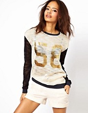 ASOS Varsity Slub Jumper