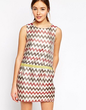 See U Soon Shift Dress In Zig Zag Jacquard