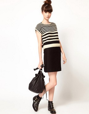 Image 4 ofKomodo &#39;Lucas&#39; Knitted Crop Jumper in Striped Print