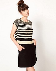 Komodo &#39;Lucas&#39; Knitted Crop Jumper in Striped Print