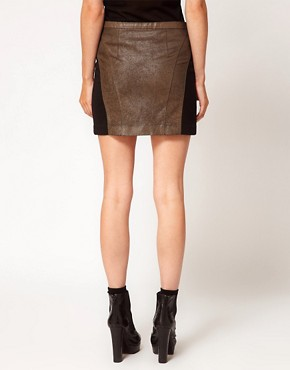 Image 2 ofApril May Leather Mini Skirt