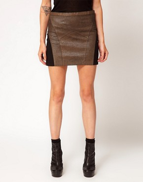 Image 4 ofApril May Leather Mini Skirt