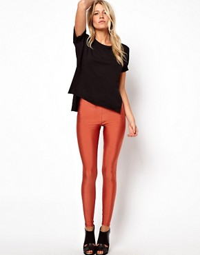 Image 1 ofASOS Leggings in Shimmer Effect