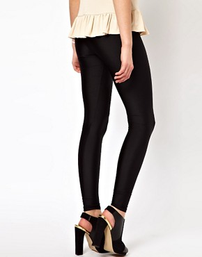 Image 2 ofASOS Leggings in Shimmer Effect