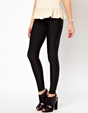 Image 4 ofASOS Leggings in Shimmer Effect