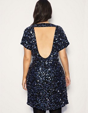 Image 2 ofASOS CURVE Exclusive Sequin &amp; Jewel Embellished Dress