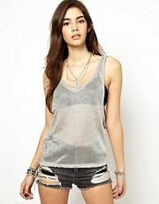 ASOS Swing Cami in Metallic