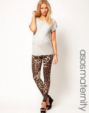 Image 1 ofASOS Maternity Exclusive Legging In Leopard Print