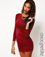 ASOS PETITE Exclusive Bodycon Dress With Ruched Side