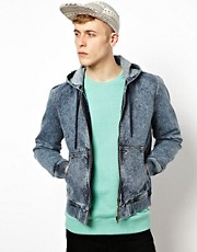ASOS  Jeansjacke mit Kapuze