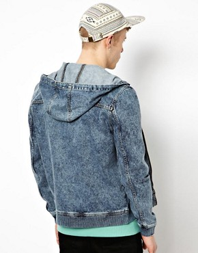 Image 2 ofASOS Denim Jacket With Hood