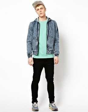 Image 4 ofASOS Denim Jacket With Hood