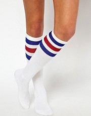 Calcetines a rayas por la rodilla de American Apparel