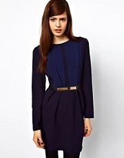 ASOS Tulip Dress with Metal Belt