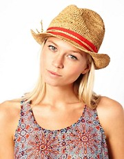 French Connection Straw Trilby