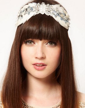 Image 1 ofASOS Twenties Feather Hair Band