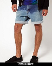 Reclaimed Vintage Shorts with Dip-Dye
