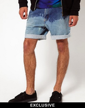 Image 1 ofReclaimed Vintage Shorts with Dip-Dye