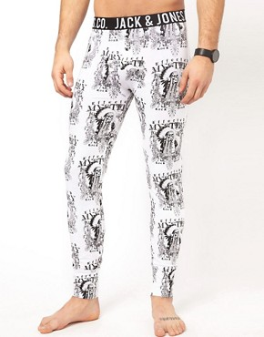 Image 1 ofJack &amp; Jones Indian Skull Long Johns