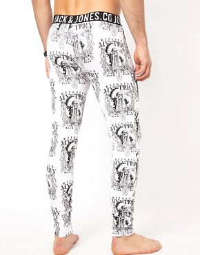 Image 2 ofJack &amp; Jones Indian Skull Long Johns